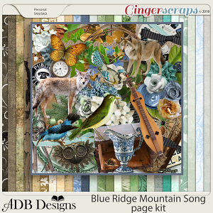 Blue Ridge Mountain Song Page Kit by ADB Designs