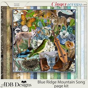 Blue Ridge Mountain Song Page Kit by ADB Designs