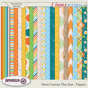 Here Comes The Sun - Papers  by Aprilisa Designs