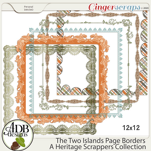 The Two Islands Page Borders by ADB Designs