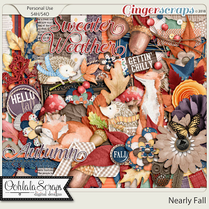 Nearly Fall Digital Scrapbook Kit