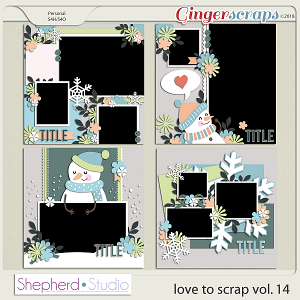Love to Scrap Volume 14 Templates by Shepherd Studio