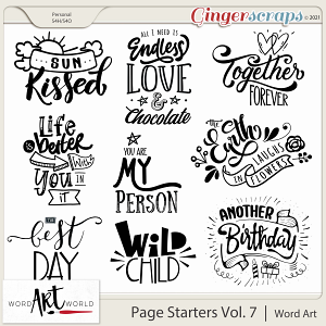 Page Starters Vol. 7 Word Art