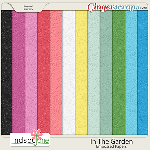 In The Garden Embossed Papers by Lindsay Jane
