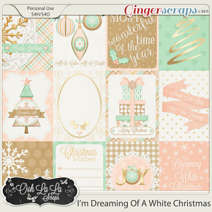 I'm Dreaming Of A White Christmas Journal and Pocket Scrap Cards