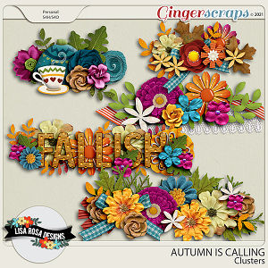 Autumn is Calling - Clusters by Lisa Rosa Designs