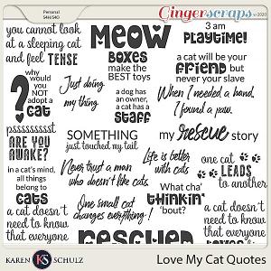 Love my Cat Quotes by Karen Schulz