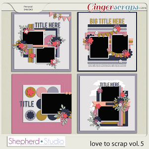 Love to Scrap Volume 5 Templates by Shepherd Studio