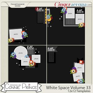 White Space Volume 33 - 12x12 Temps (CU Ok) by Connie Prince