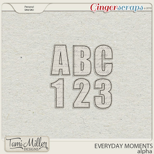 Everyday Moments Alpha by Tami Miller Designs