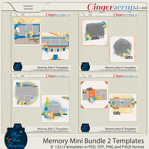 Memory Mini Bundle 2 Templates by Miss Fish