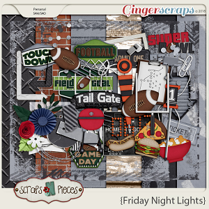 Friday Night Lights Kit by Scraps N Pieces