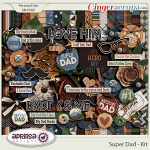 Super Dad - Kit by Aprilisa Designs