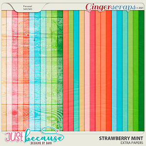 Strawberry Mint Extra Papers by JB Studio