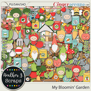 My Bloomin' Garden KIT by Heather Z Scraps
