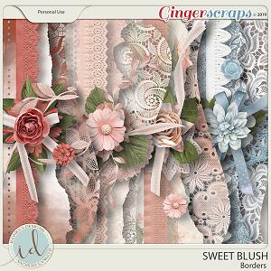 Sweet Blush Borders by Ilonka's Designs