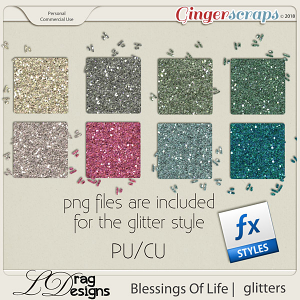 Blessings Of Life: Glitterstyles by LDragDesigns