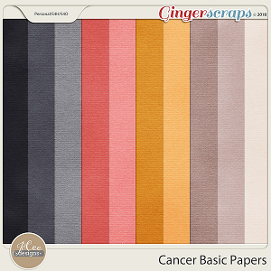 Cancer Basic Papers by JoCee Designs