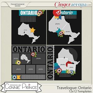 Travelogue Ontario Canada - 12x12 Temps (CU Ok) by Connie Prince