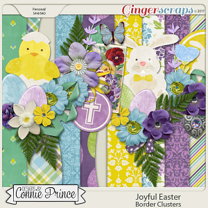 Joyful Easter - Border Clusters