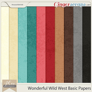 Wonderful Wild West Basic Papers by JoCee Designs