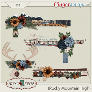Rocky Mountain High Clusters by Scraps N Pieces