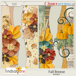 Fall Breeze Borders by Lindsay Jane