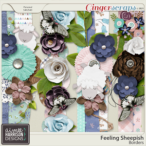 Feeling Sheepish Borders by Aimee Harrison