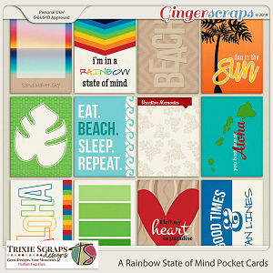 A Rainbow State of Mind Pocket Cards by Trixie Scraps Designs