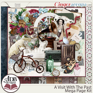 A Visit With The Past Mega Page Kit by ADB Designs