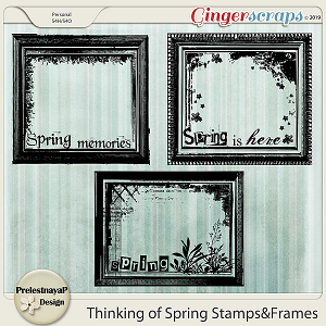 Thinking of Spring Stamps&Frames