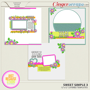 Sweet Simple Templates 3 By JB Studio