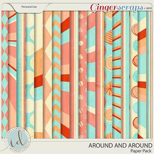 Around And Around Paper Pack by Ilonka's Designs