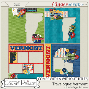 Travelogue Vermont - Quick Pages by Connie Prince