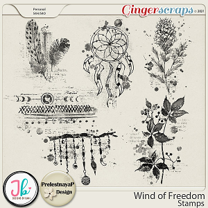 Wind of Freedom Stamps by PrelestnayaP Design and JB Studio