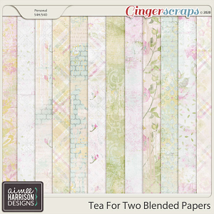 Tea for Two Blended Papers by Aimee Harrison