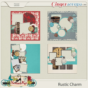 Rustic Charm Quick Pages by The Scrappy Kat