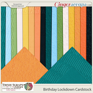 Birthday Lockdown Cardstock by Trixie Scraps Designs