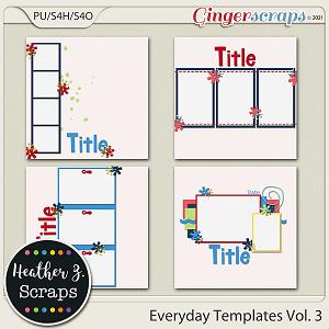 Everyday Templates VOLUME 3 by Heather Z Scraps