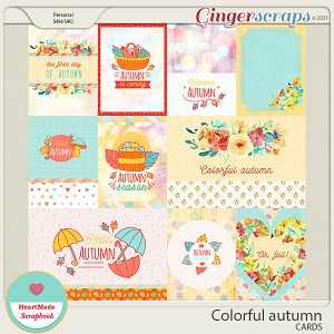 Colorful autumn - cards