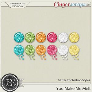 You Make Me Melt CU Glitter Photoshop Styles