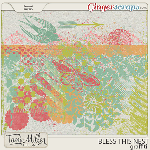 Bless This Nest Graffiti by Tami Miller Designs