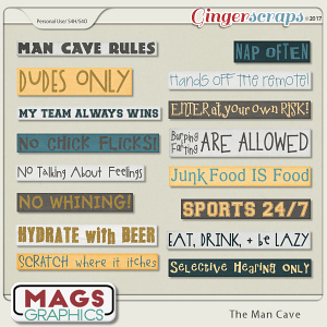 The Man Cave RULES Pack by MagsGraphics