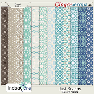 Just Beachy Pattern Papers by Lindsay Jane
