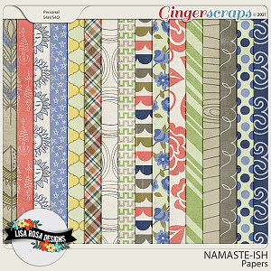 Namaste-ish - Papers by Lisa Rosa Designs