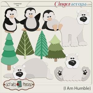 I am Humble Bear and Penguin CU Layered Templates - Scraps N Pieces