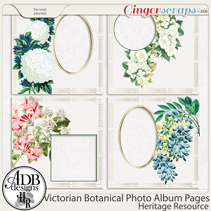Heritage Resource Victorian Botanical Album Quick Pages by ADB Designs