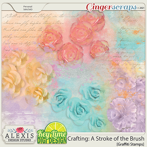 Crafting: A Stroke of the Brush Graffiti by Alexis Design Studio and Key Lime Digi Design