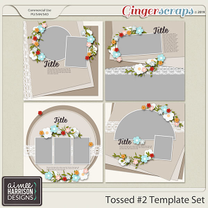 Tossed #2 Templates by Aimee Harrison