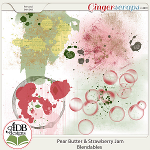 Pear Butter & Strawberry Jam Spills & Smears by ADB Designs